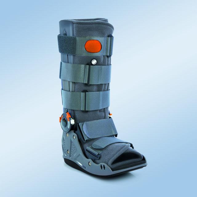 Orteza sztywna lub półsztywna z tworzywa sztucznego na goleń i stopę EST-083 (z komorą powietrzną)