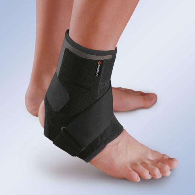 Orteza sztywna lub półsztywna z tworzywa sztucznego na goleń i stopę EST-084 (z wkładką termoplastyczną)