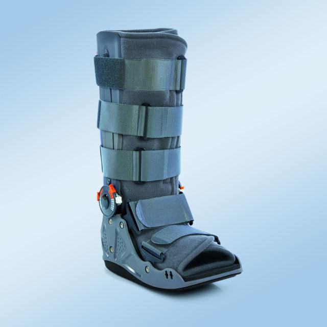 Orteza sztywna lub półsztywna z tworzywa sztucznego na goleń i stopę EST-086 (z regulacją kątową)