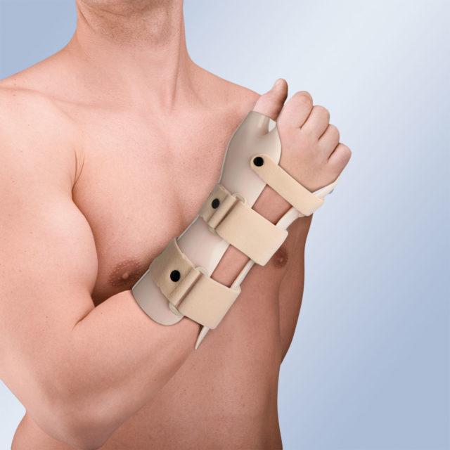 Orteza na rękę i przedramię TP-6103 D/I (z ujęciem kciuka i zgięciem grzbietowym nadgarstka)